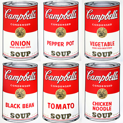 Andy Warhol – Campbells soup cans